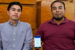 The IPN students and their smartphone app.