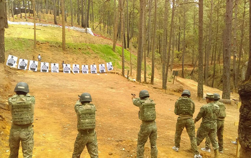 Navy cadets in training at the academy in Veracruz.