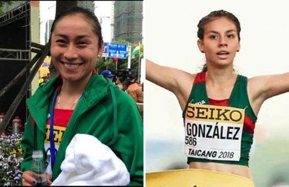 Race walking gold medalists González, left, and Aryday.