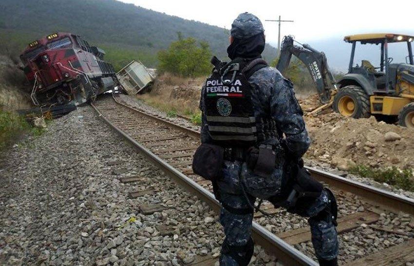 Yesterday's derailment in Veracruz.