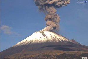 An eruption at El Popo last year