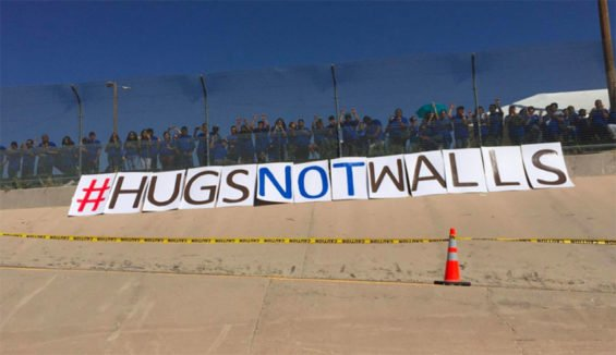 A border wall protest in Ciudad Juárez last October.