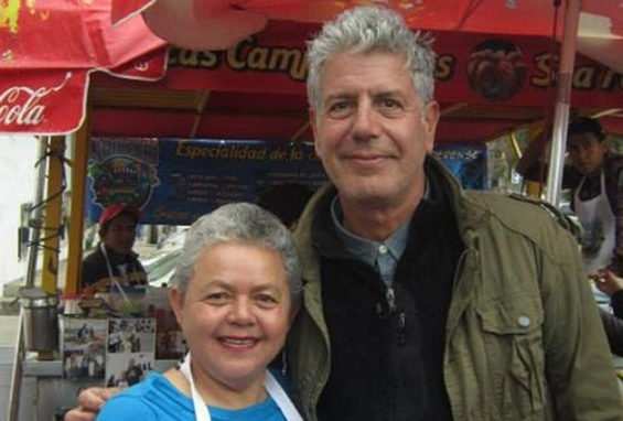 The chef with Sabina Bandera of Ensenada.