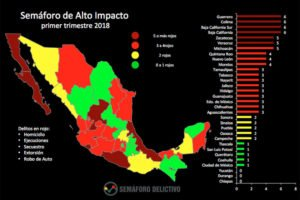 High-impact crime, first quarter of this year. Green is best, dark red is worst and yellow is in between.