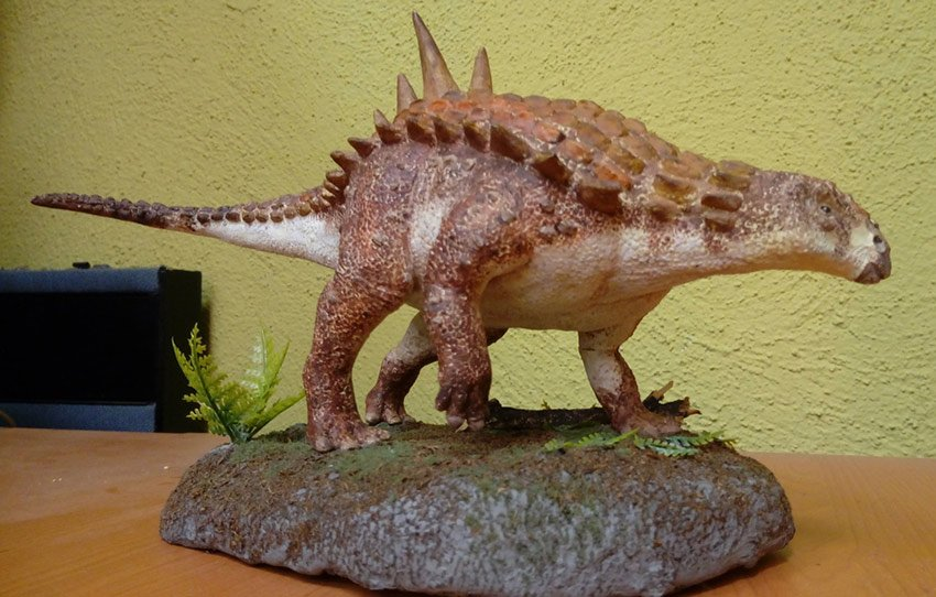 A replica of the new dinosaur species.