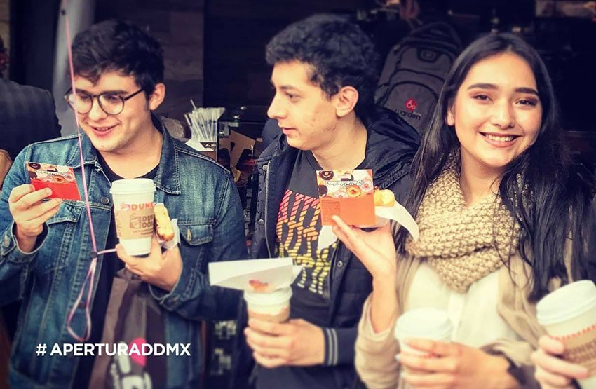 Customers at the opening last year of Dunkin' Donuts in Polanco, Mexico City.
