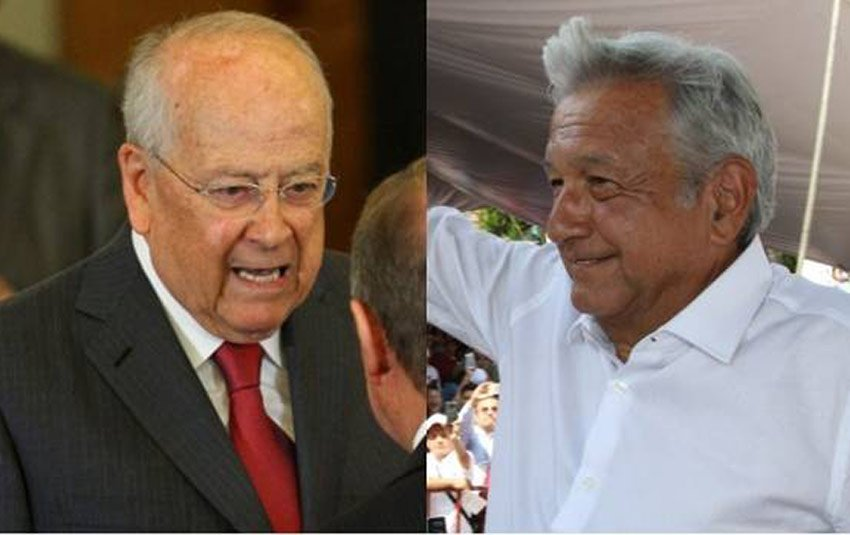 Business leader González, left, and leftist politician AMLO: hugs and baseball.