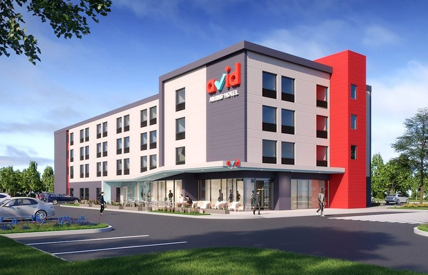 Artist's conception of the new avid hotel brand.