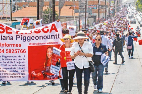 Yesterday's march in Tijuana.