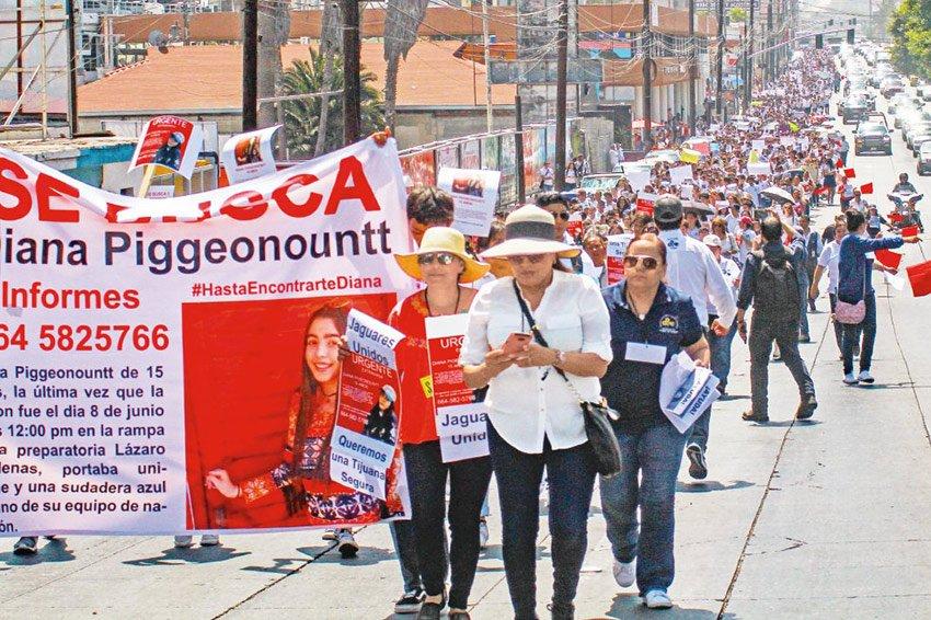 Yesterday's march in Tijuana.