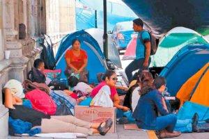 Striking teachers in Oaxaca.