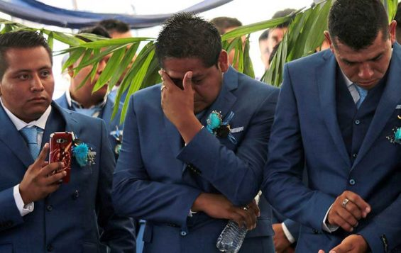 A tearful graduation ceremony at the Ayotzinapa teacher training college.