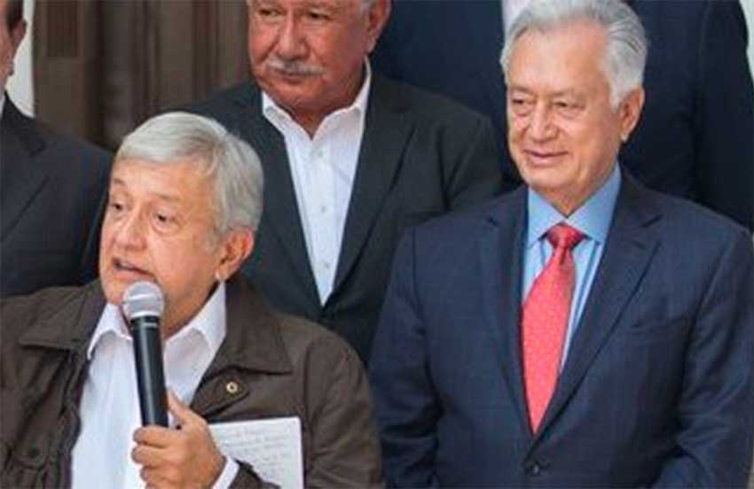López Obrador, left, and Bartlett, right.