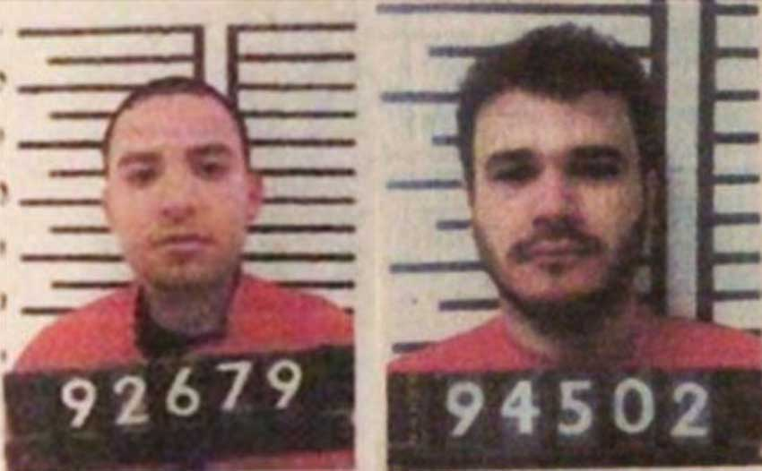 The two inmates who escaped from a Sinaloa prison yesterday.