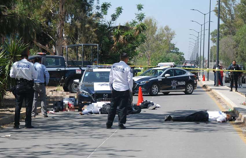A homicide scene in Guanajuato.