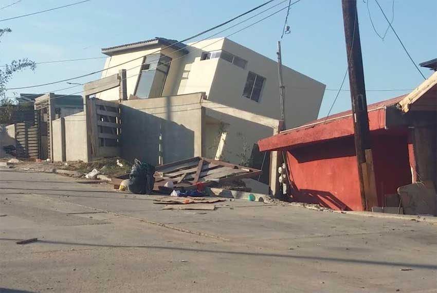 One of the Tijuana houses that collapsed on Saturday.