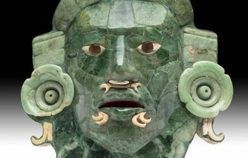 The jade mask is back in Mexico and will be on permanent display in Campeche.