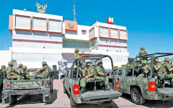 Military on patrol.