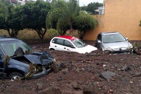 Flood damage in Morelia.