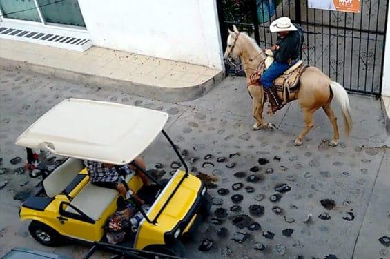 Trueman's street in a 'quiet' town in Jalisco.