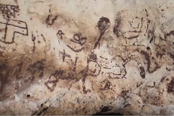 Cave paintings discovered in Yucatán.