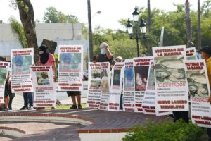 A demonstration by relatives of missing persons in Nuevo Laredo.