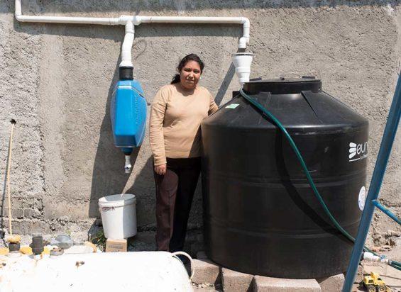 A Tlaloque rainwater capture system in San Gregorio Atlapulco, Xochimilco