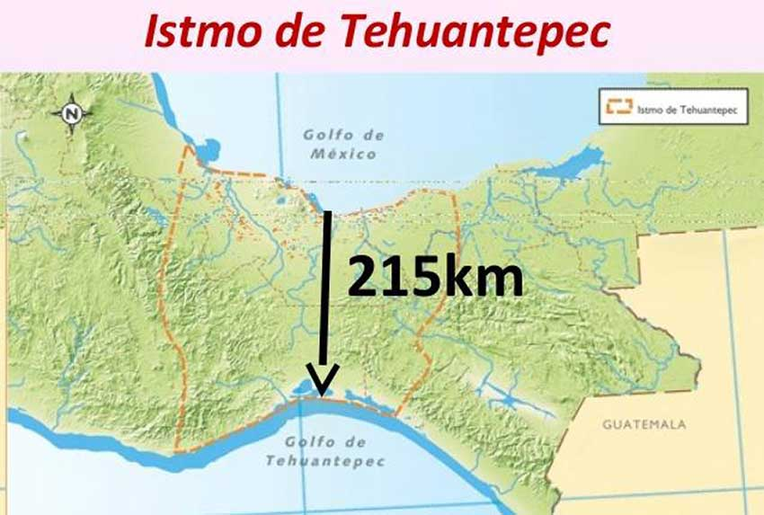 The Isthmus of Tehuantepec rail line is one that might interest China.