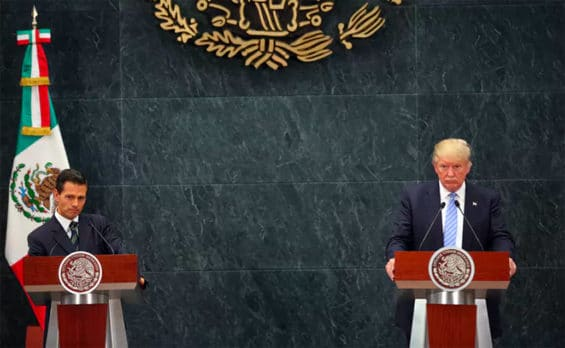 Trump's August 2016 visit to Mexico was calamitous for outgoing Mexican President Enrique Peña Nieto and his party.