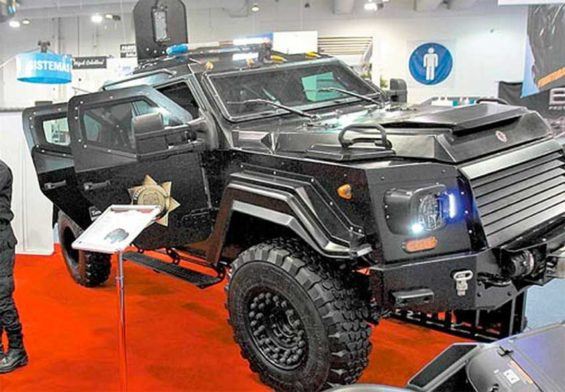 An armored vehicle, made in Mexico.
