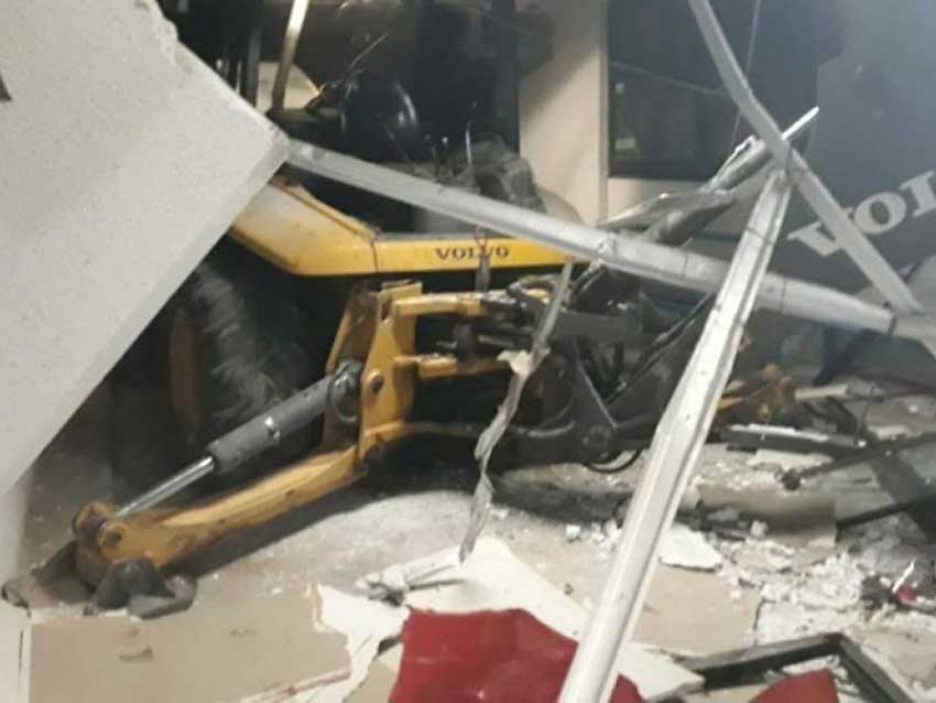 A backhoe proved useful to ATM thieves.