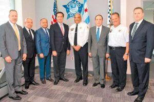 Mexican and US law enforcement officials this week in Chicago.