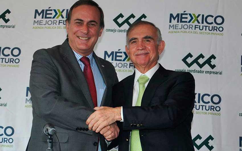 Businessman Castañon, left, and businessman-bureaucrat Romo.