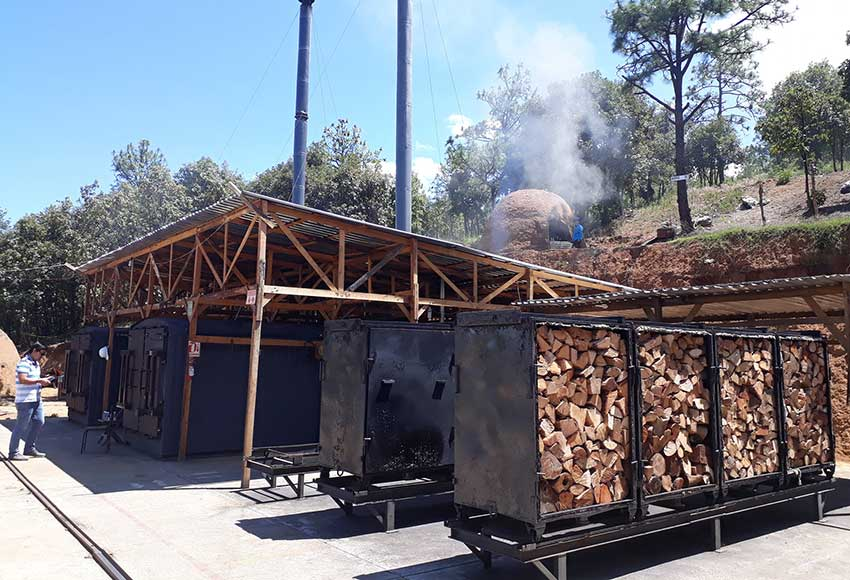 The new charcoal plant in Oaxaca.