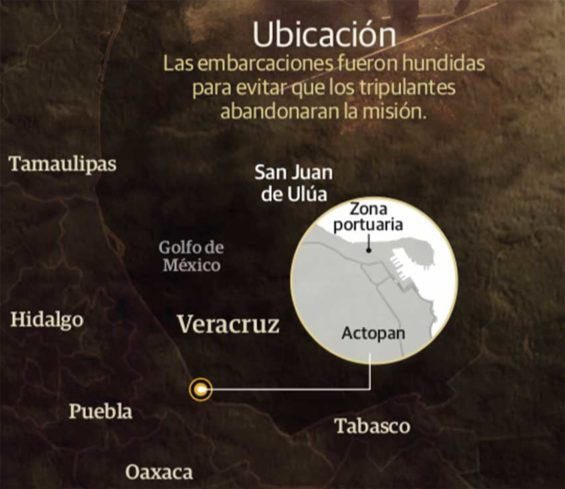 The search area off Veracruz.