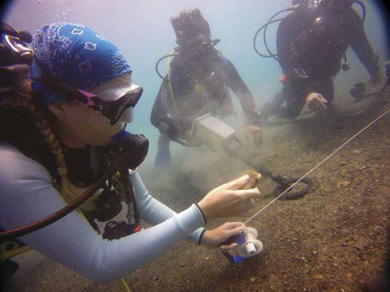 Dive team at work.