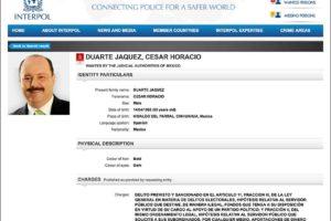 The Interpol Red Notice for César Duarte.