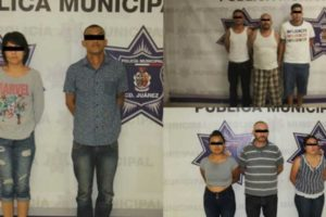 The eight suspects in Friday's multiple homicide in Juárez.