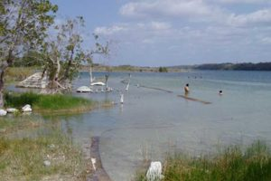 Lake Chichankanab, the site of the study.
