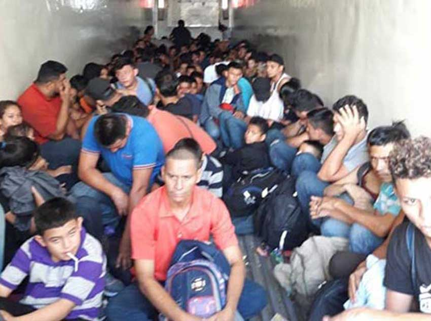 The migrants found yesterday in Nuevo León.