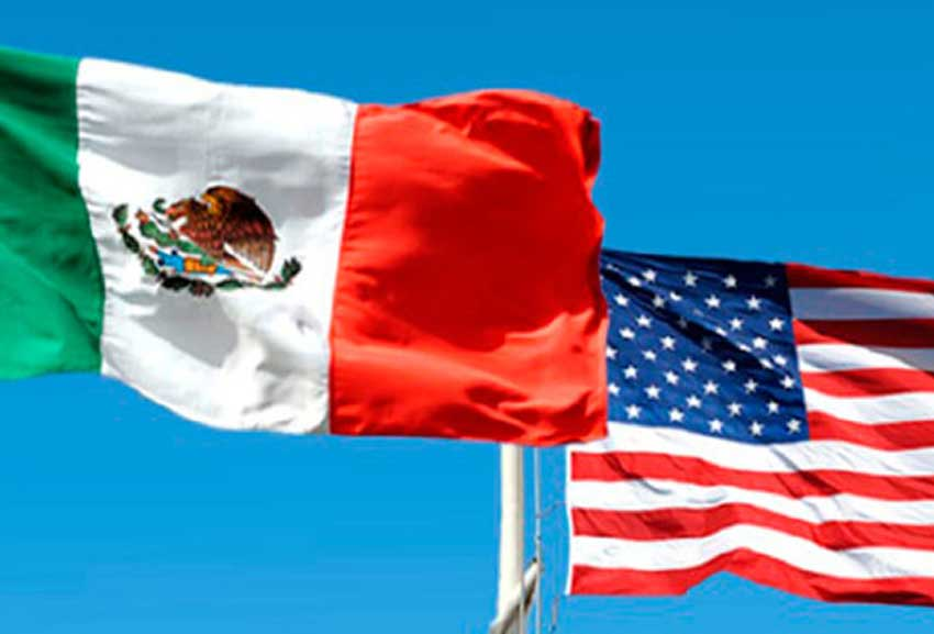 mexico us flags