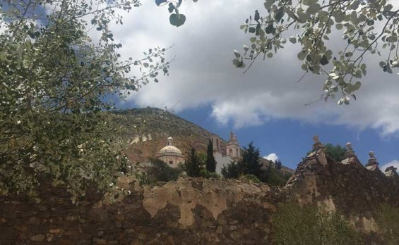 Ruins on the mountainside in Real de Catorce.
