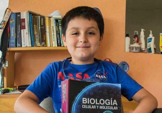 Carlos, 12, budding scientist.