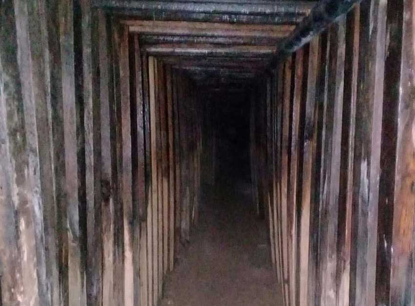 The tunnel found between Sonora and Arizona.