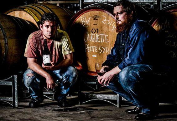 Ruiz, left, and Caldwell, partners in wine.