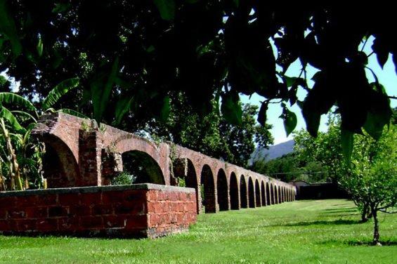 Remains of an aqueduct at the Hacienda.