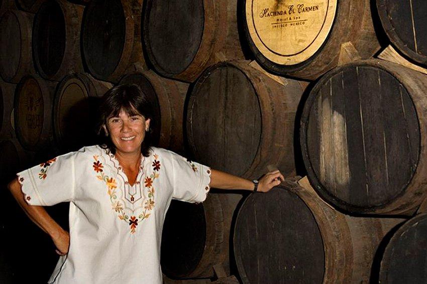 Mónica Baeza, one of the hacienda's owners.