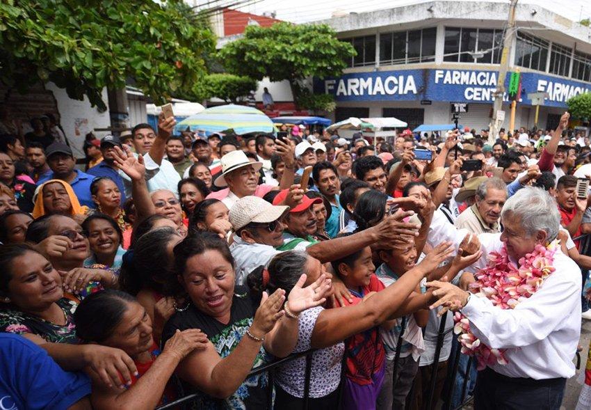 Feeling the AMLOve yesterday in Juchitán.