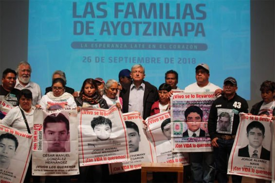López Obrador met today with the families of the missing Ayotzinapa students.