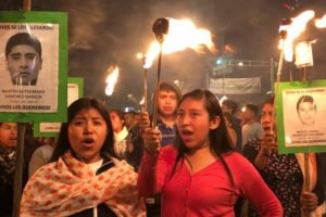 One of the many Ayotzinapa demonstrations that have been held over the last four years.